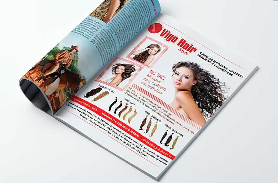 Vigo Hair Anúncios de Revistas 2