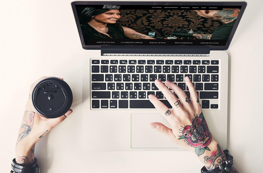 Visão Tattoo Site e E-commerce 2