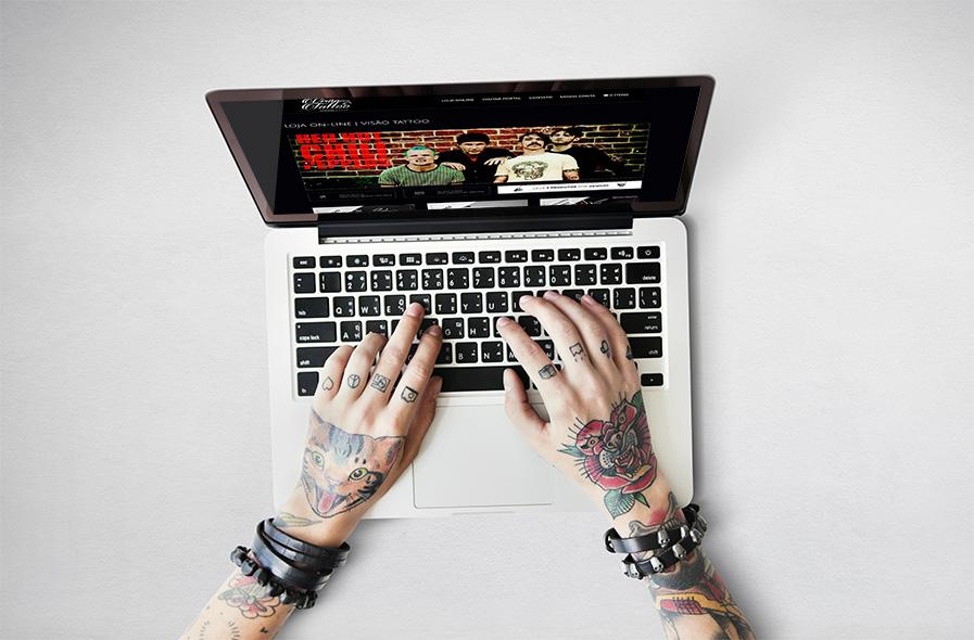 Visão Tattoo Site e E-commerce 3