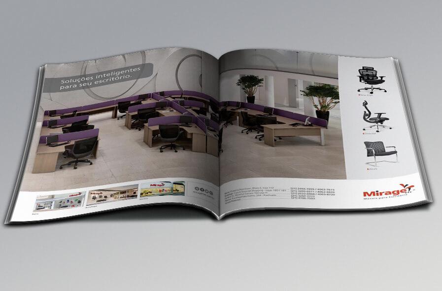 Mirage Móveis para Escritório Anúncios de Revistas 3